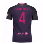 2016-17 Barcelona With Sponsor Away Shirt - (Kids) (Guardiola 4)