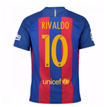 2016-17 Barcelona Home Shirt (Rivaldo 10) - Kids