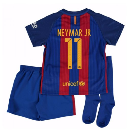 2016-17 Barcelona Home Little Boys Mini Kit (With Sponsor) (Neymar JR a865260821731