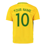 2016-17 Brazil Home Shirt (Your Name) -Kids