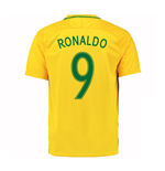2016-17 Brazil Home Shirt (Ronaldo 9) - Kids