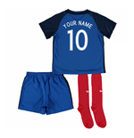 2016-17 France Home Little Boys Kit (Your Name)