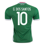2016-17 Mexico Home Shirt (G. Dos Santos 10)