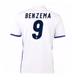 2016-17 Real Madrid Home Shirt (Benzema 9)