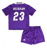 2016-17 Real Madrid Away Baby Kit (Beckham 23)