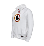 2016-2017 AS Roma Nike Core Hooded Top (White) - Kids