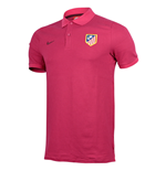 2016-2017 Atletico Madrid Nike Authentic League Polo Shirt (Fuschia)