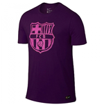 2016-2017 Barcelona Nike Crest Tee (Purple) - Kids