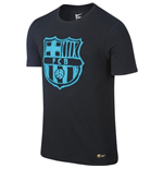 2016-2017 Barcelona Nike Crest T-Shirt (Black) - Kids