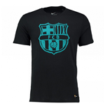2016-2017 Barcelona Nike Crest T-Shirt (Black-Energy)