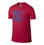 2016-2017 Barcelona Nike Crest T-Shirt (Red) - Kids