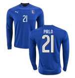 2016-2017 Italy Long Sleeve Home Shirt (Pirlo 21)