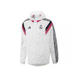 2016-2017 Real Madrid Adidas Allweather Jacket (White)