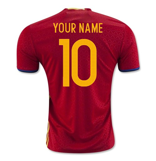 2016-2017 Spain Home Shirt (Your Name)