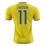 2016-2017 Sweden Home Adidas Shirt (Larsson 11) - Kids