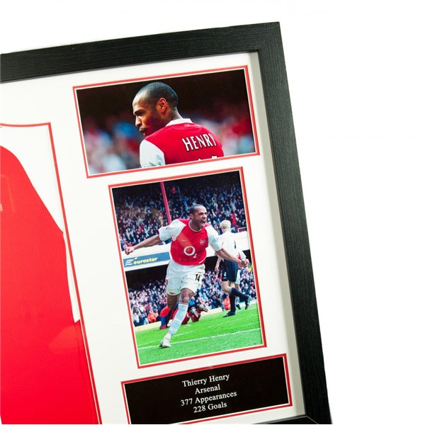 Arsenal F.C. Henry Signed Shirt (Framed)
