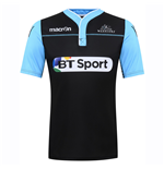 2016-2017 Glasgow Warriors Rugby Warm Up Training Jersey (Black)