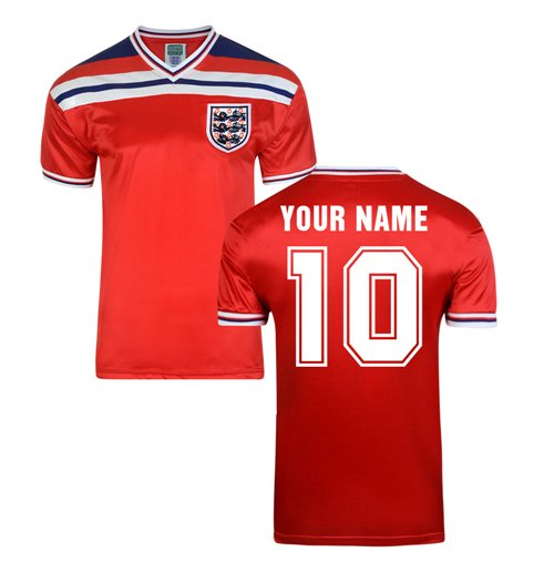 Score Draw England World Cup 1982 Away Shirt (Your Name)