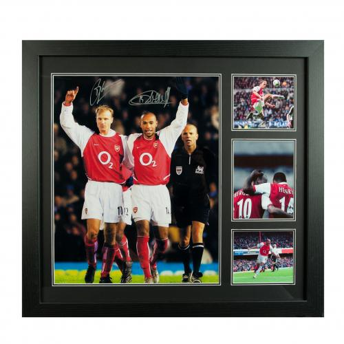 Arsenal F.C. Bergkamp & Henry Signed Framed Print