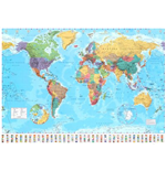 World map Giant Poster- 2015 - 100x140 Cm