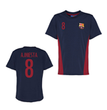 Official Barcelona Training T-Shirt (Navy) (A.Iniesta 8)