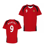 Official Man United Training T-Shirt (Red) (Martial 9)