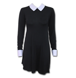 Gothic Rock - PeterPan Collar Baby Doll LS Dress