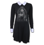 Witch Nights - PeterPan Collar Baby Doll LS Dress