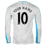 2015-16 Newcastle Away Long Sleeve Shirt (Your Name)