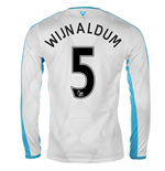 2015-16 Newcastle Away Long Sleeve Shirt (Wijnaldum 5)
