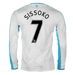 2015-16 Newcastle Away Long Sleeve Shirt (Sissoko 7)