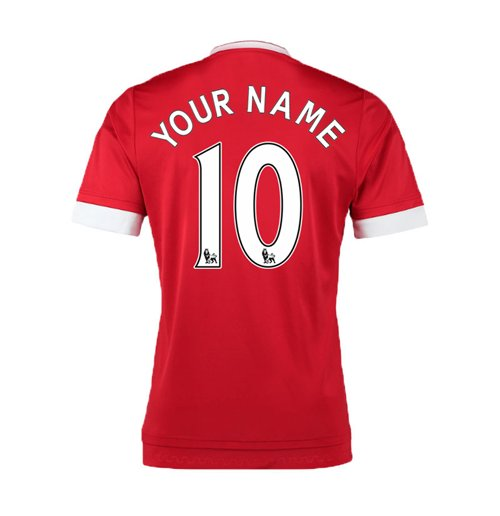 2015-16 Man United Home Shirt (Your Name)