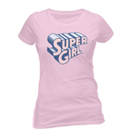 DC Comics Ladies T-Shirt Supergirl Text & Logo