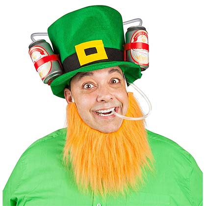 Lucky Leprechaun St. Paddy's Day Beer Drinking Hat