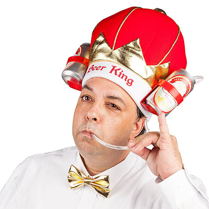 Beer King Drinking Hat