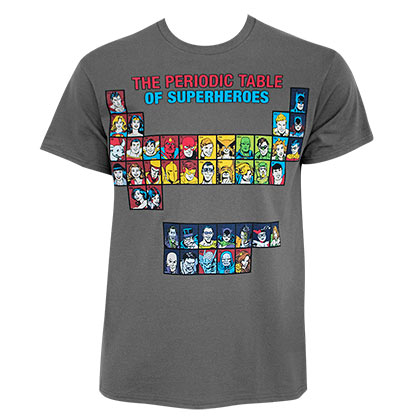 JUSTICE LEAGUE Periodic Table Tee Shirt
