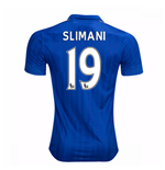 2016-17 Leicester City Home Shirt (Slimani 19) - Kids