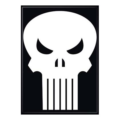 PUNISHER Skull Logo Magnet