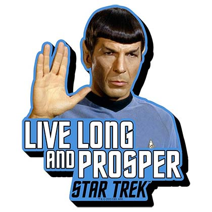 STAR TREK Live Long And Prosper Magnet