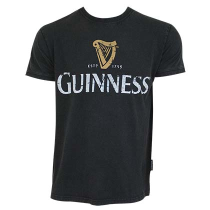 GUINNESS Distressed Label Tee Shirt