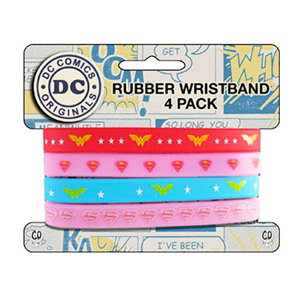 WONDER WOMAN 4 Piece Rubber Bracelet Set