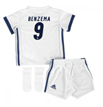 2016-17 Real Madrid Home Adidas SMU Mini Kit (Benzema 9)
