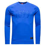 2016-2017 Barcelona Nike Authentic LS Crew Sweatshirt (Royal Blue)