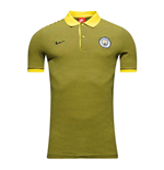 2016-2017 Man City Nike Authentic Grand Slam Polo Shirt (Opti Yellow)