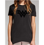 Wonder Woman - Vintage Logo - Unisex T-shirt Black