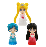 Sailor Moon Figures 6 cm Assortment Clear Colored Sparkle Dress Collection Vol. 1 (25)