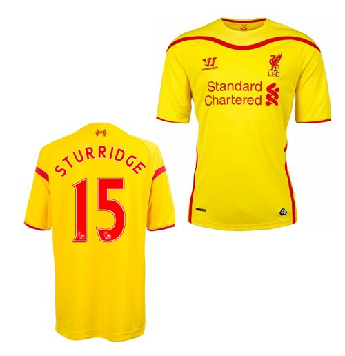 2014-15 Liverpool Away Shirt (Sturridge 15)