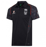 2017 New Zealand Warriors Rugby Polo Shirt (Black)