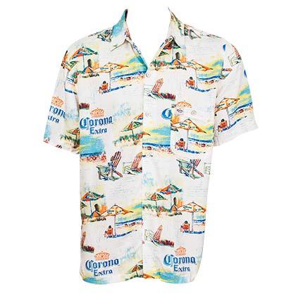 e1c356c9 Official CORONA EXTRA Beach Lounge Hawaiian Shirt: Buy Online on Offer