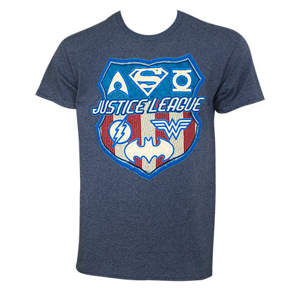 JUSTICE LEAGUE Patriotic Crest Tee Shirt
